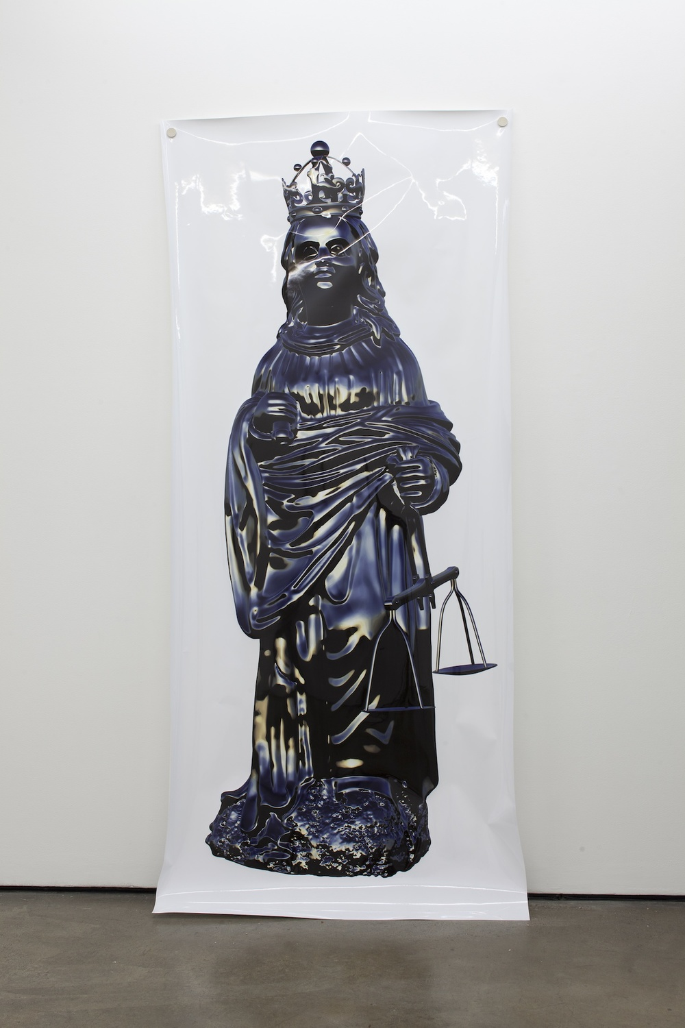 Oliver Laric Maria Justitia 2011 Clear coated fine art inkjet print on ultra glossy paper 250 x 110 cm