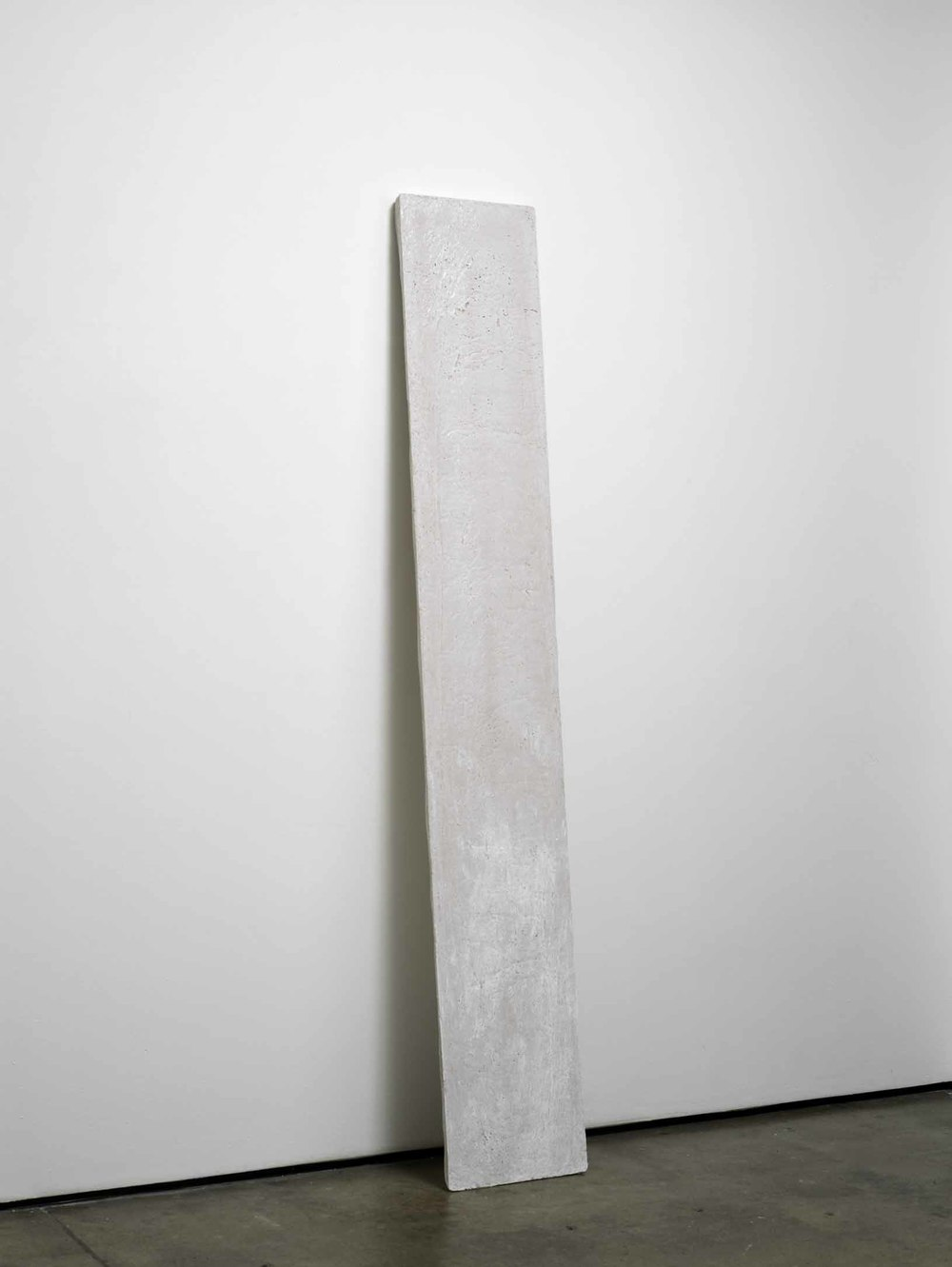 j (working title)    2011    Concrete    200 x 32 x 2.5 cm / 78.7 x 12.5 x 1 in