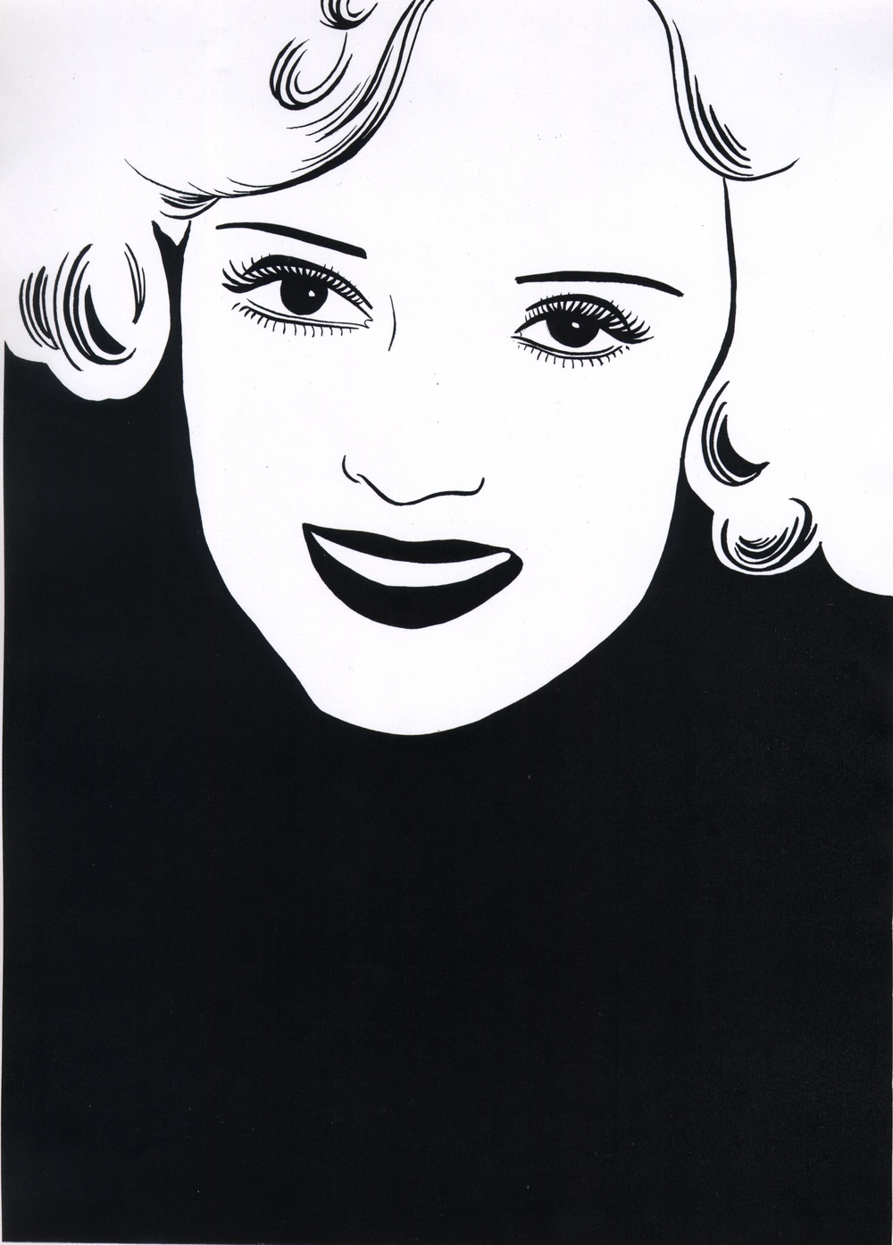 The wife was charming   2010   Ink on paper   42 x 29.7 cm / 16.5 x 11.6 in,   47 x 34.5 cm / 18.5 x 13.5 in framed