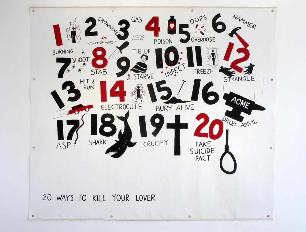 20 Ways To Kill Your Lover   2010   Acrylic on canvas   215 x 245 cm / 84.6 x 96.4 in