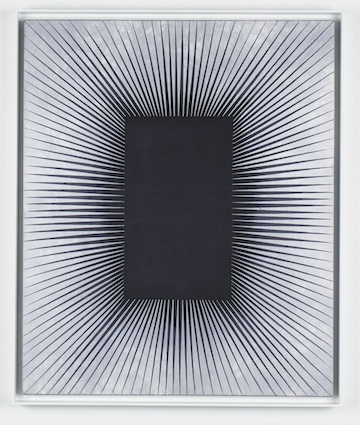 Matti Braun Untitled 2010 Dyed batik silk, wooden frame, paint 58.5 x 48.8 cm / 23 x 19.2 In