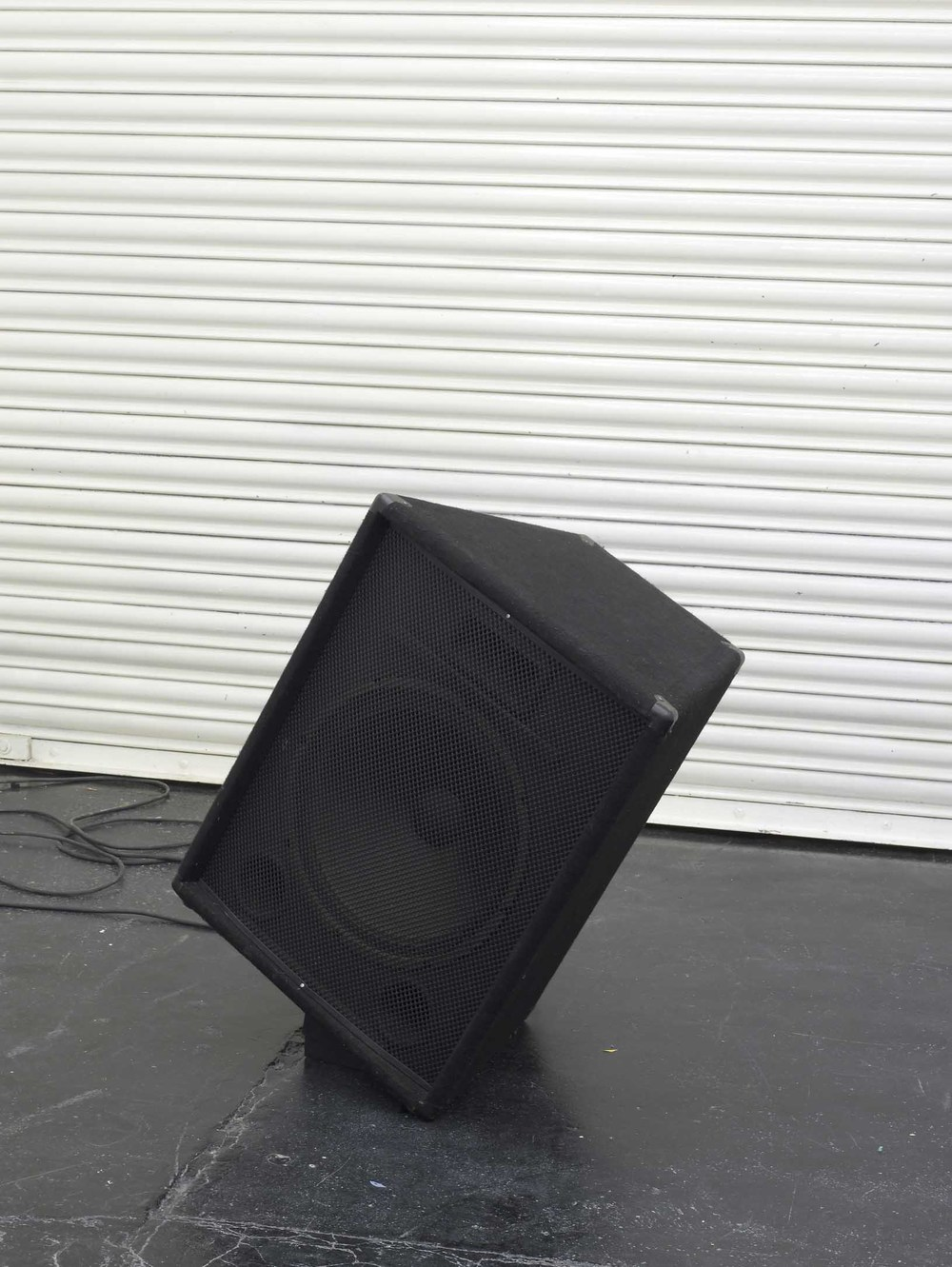 Aloïs Godinat Untitled 2005-2010 Speaker, sound, polyurethane wedge 65 x 51 x 41 cm / 25.6 x 20.1 x 16.1 In