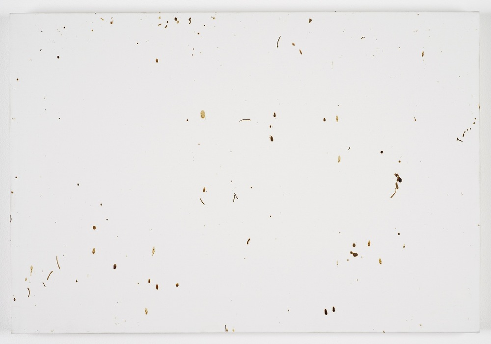 Bee Painting, Small Screen IV 2009 Bee droppings on grounded canvas 41 x 60 cm