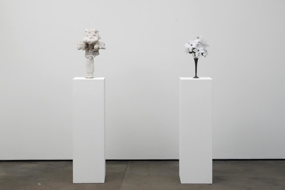 Peter Coffin Untitled (flowers) 2009 Found object and plaster, crystalline silica, vinyl, polymer and surface salt 43 x 30 x 30 cm; 50 x 38 x 38 cm