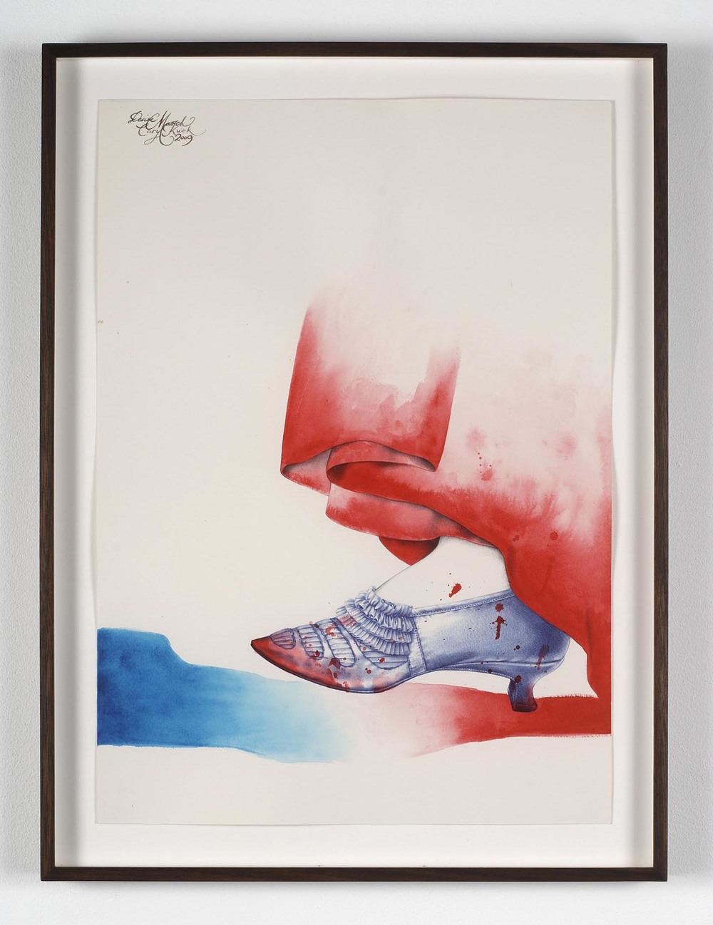 Desire - French (The Revolution)   2009   acrylic and ink on paper   42 x 29.7 cm