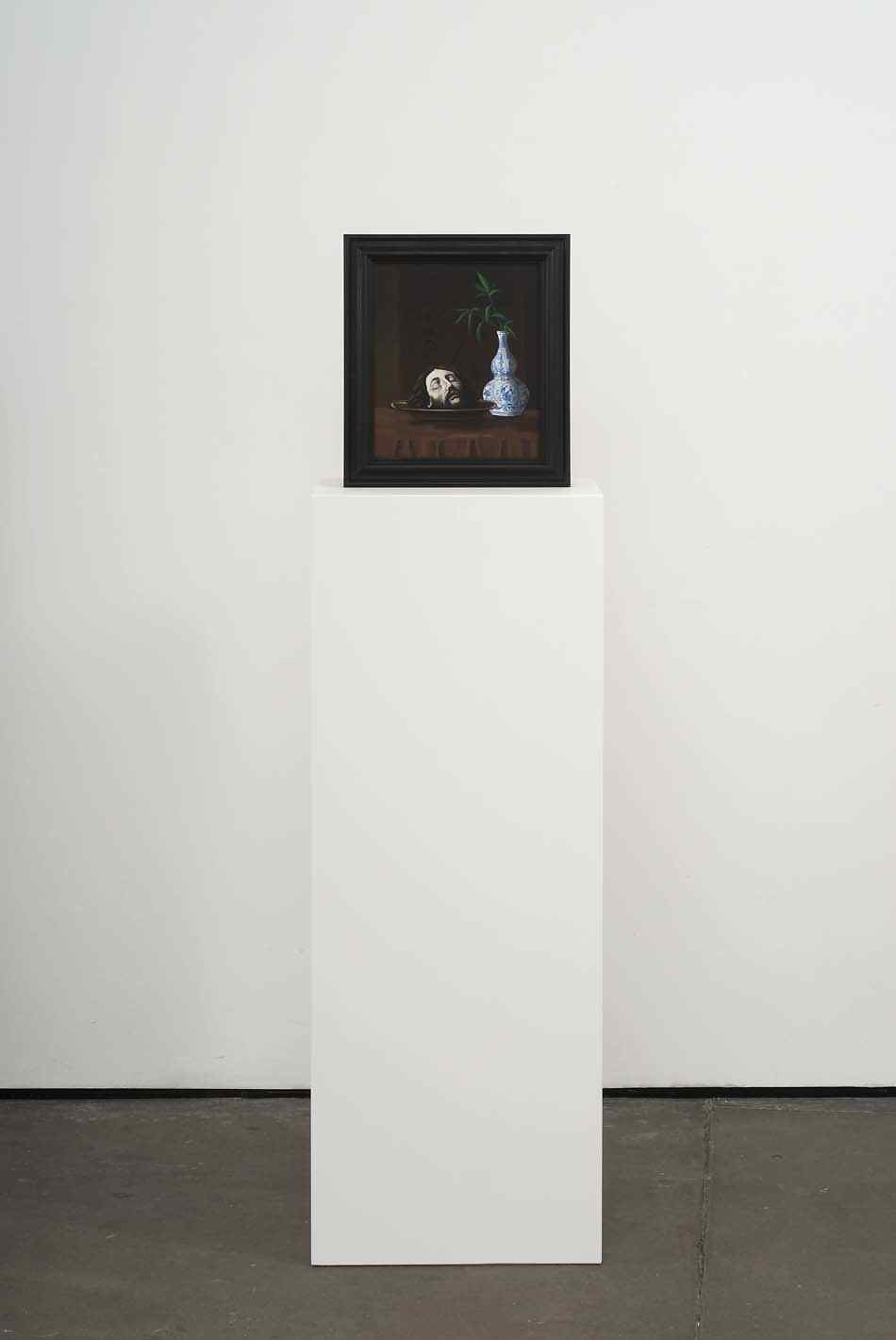 Paranoia 2009 Double-sided acrylic on board in artists frame mounted on pedestal 147.3 x 40 x 28cm