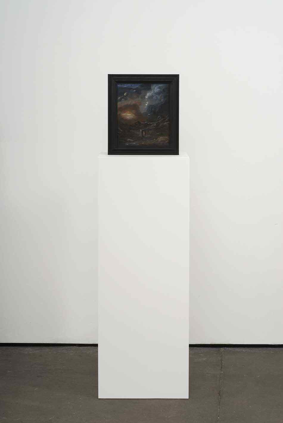 The Gate (Nowhere in Particular)   2009   Double-sided acrylic on board in artists frame mounted on pedestal   147.3 x 40 x 28cm