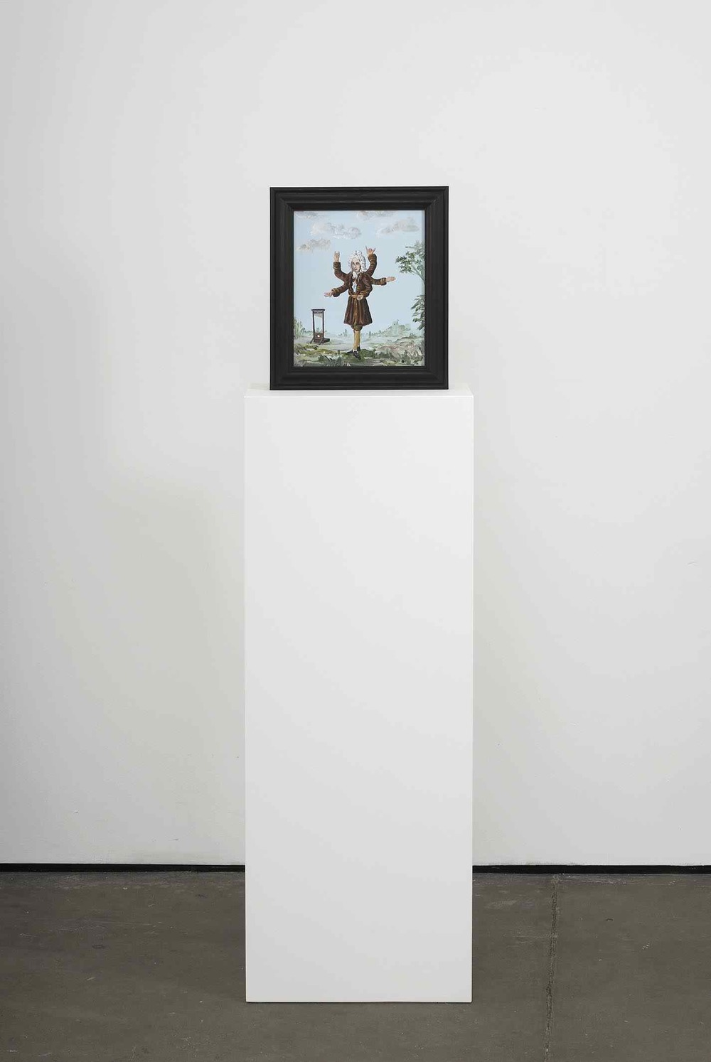 Why Me 2009 Double-sided acrylic on board in artists frame mounted on pedestal 147.3 x 40 x 28cm