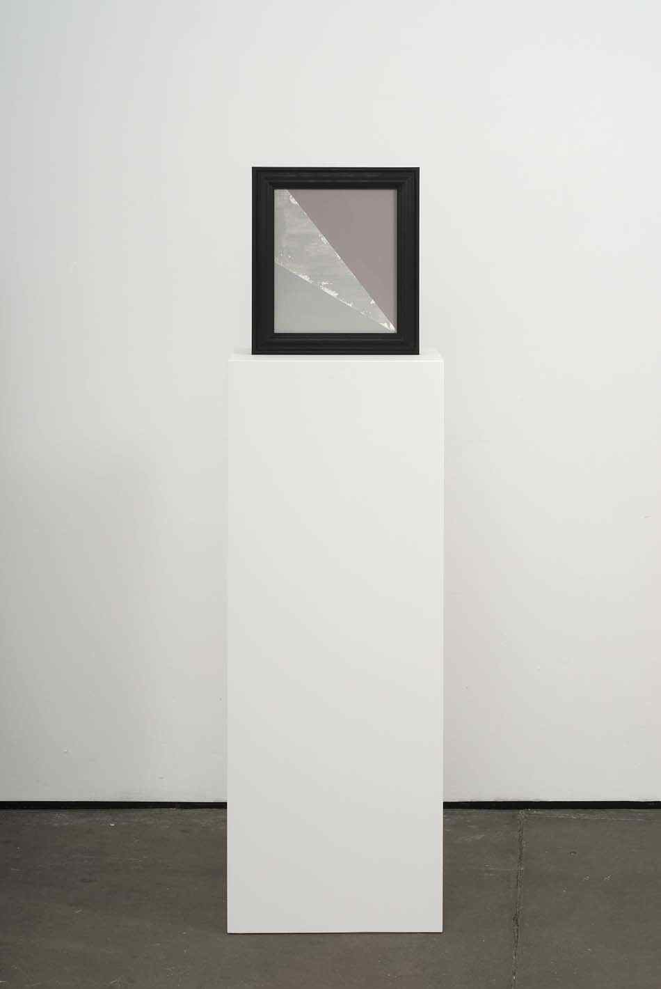 Stroke 2009 Double-sided acrylic on board in artists frame mounted on pedestal 147.3 x 40 x 28cm