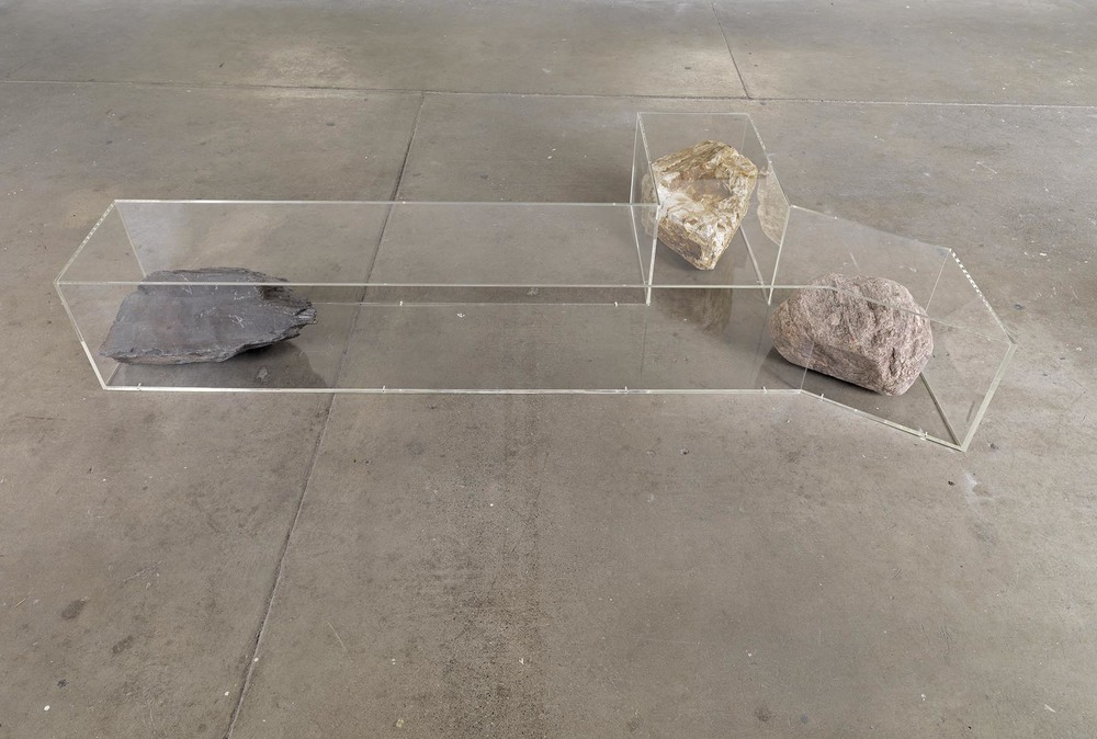 Untitled (Bench) 2008 acrylic, golden quartzite, mixed glacier and purple slate 36 x 239 x 122.5 cm
