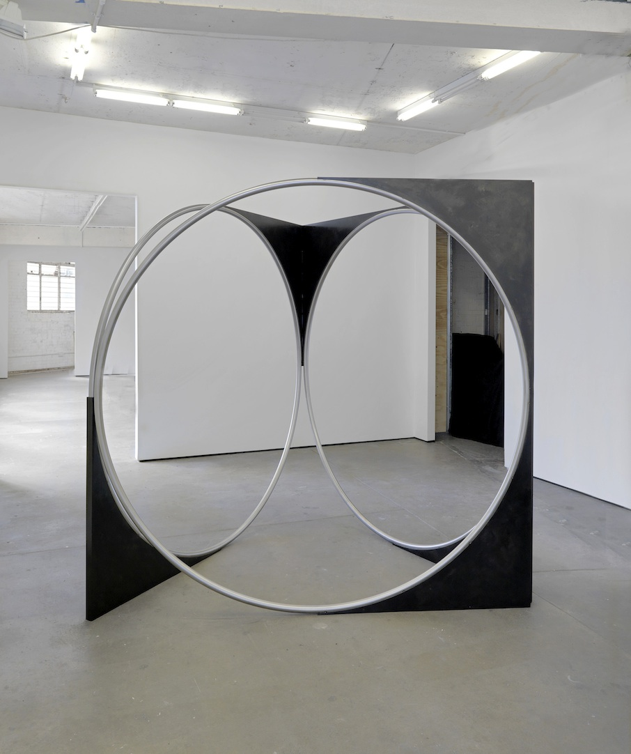 Spa 2008 stainless steel and patinated mild steel 215 x 215 x 190 cm