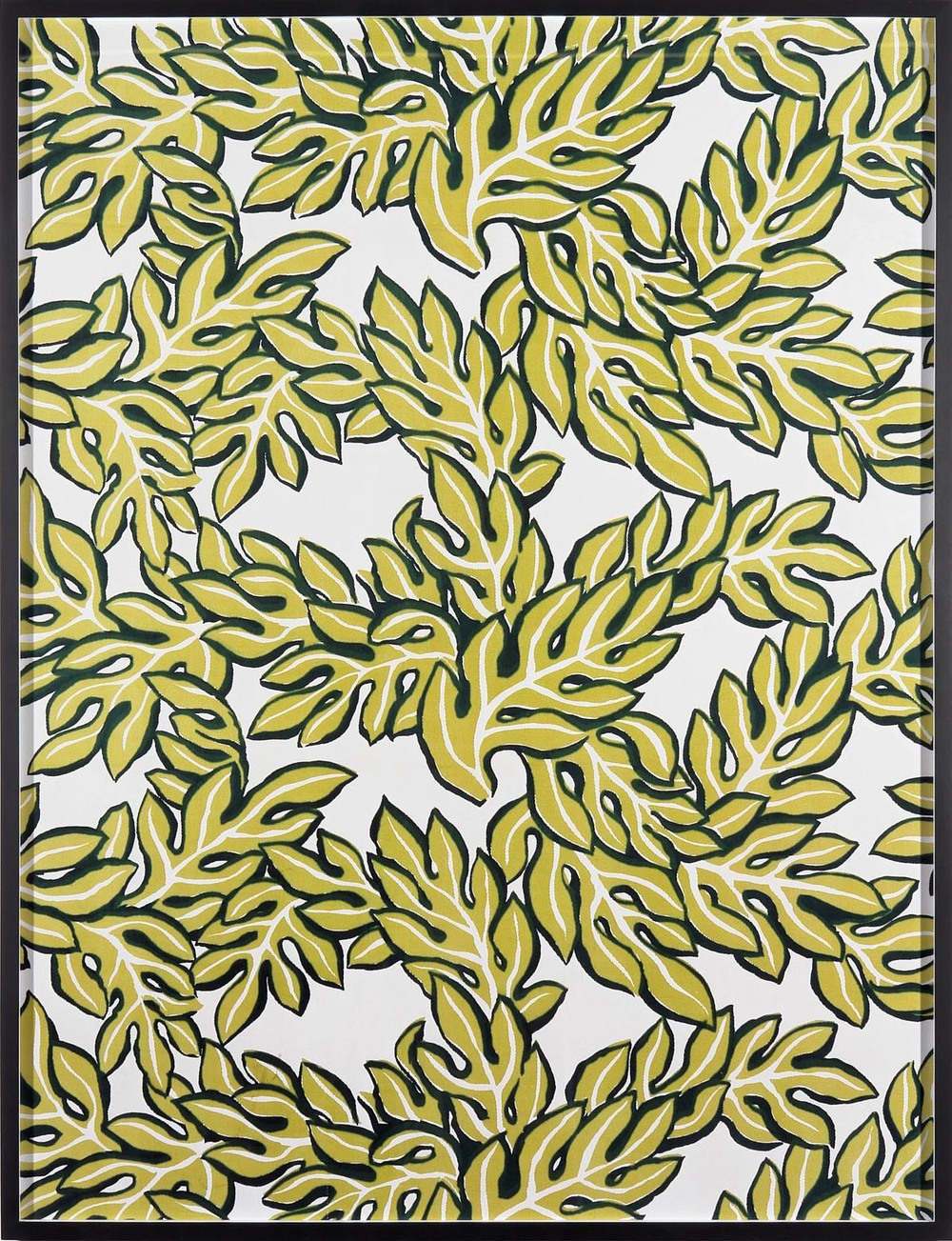 Annette Kelm Big Print #6 (Jungle Leaves - cotton twill 1947 design Dorothy Draper, courtesy Schumacher &Co) 2007 C-Print: 131.5 x 100.5 cm