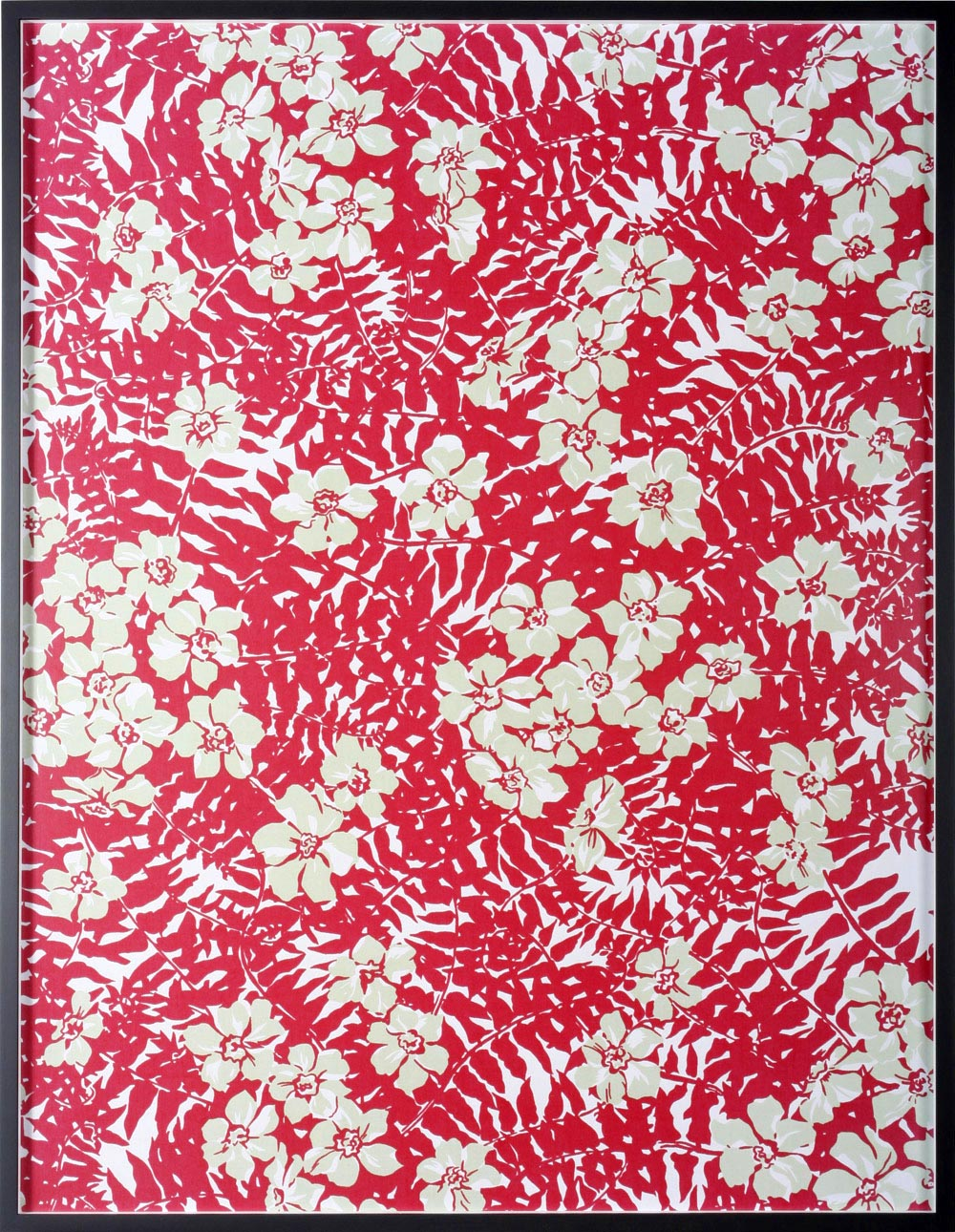 "Annette Kelm Big Print #2 ( Maui Fern cotton ""mainsail cloth"" fall 1949 design Dorothy Draper, courtesy Schumacher &Co) 2007 C-Print: 131.5 x 100.5 cm"