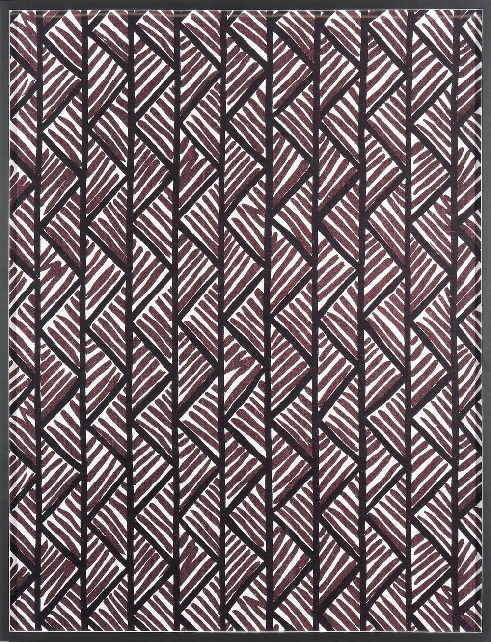 Annette Kelm Big Print #1 (Lahala Tweet - cotton chevron, fall 1949 design Dorothy Draper, courtesy Schumacher &Co) 2007 C-Print: 130.5 x 100.5 cm