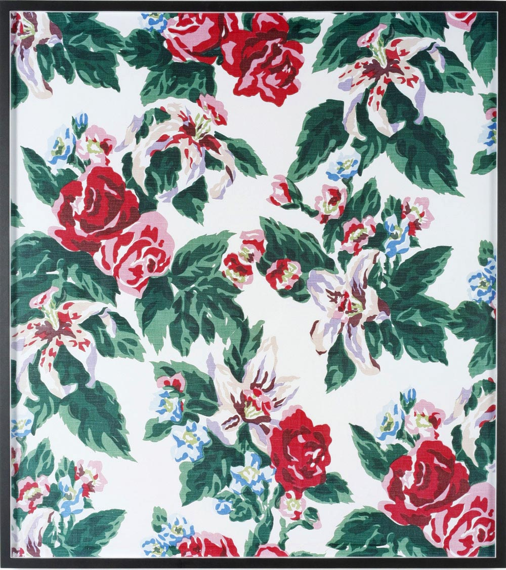 Annette Kelm Big Print #4 (Fazenda Lily - white Background - cotton fall 1947 design Dorothy Draper, courtesy Schumacher &Co) 2007 C-Print: 112 x 100.5 cm