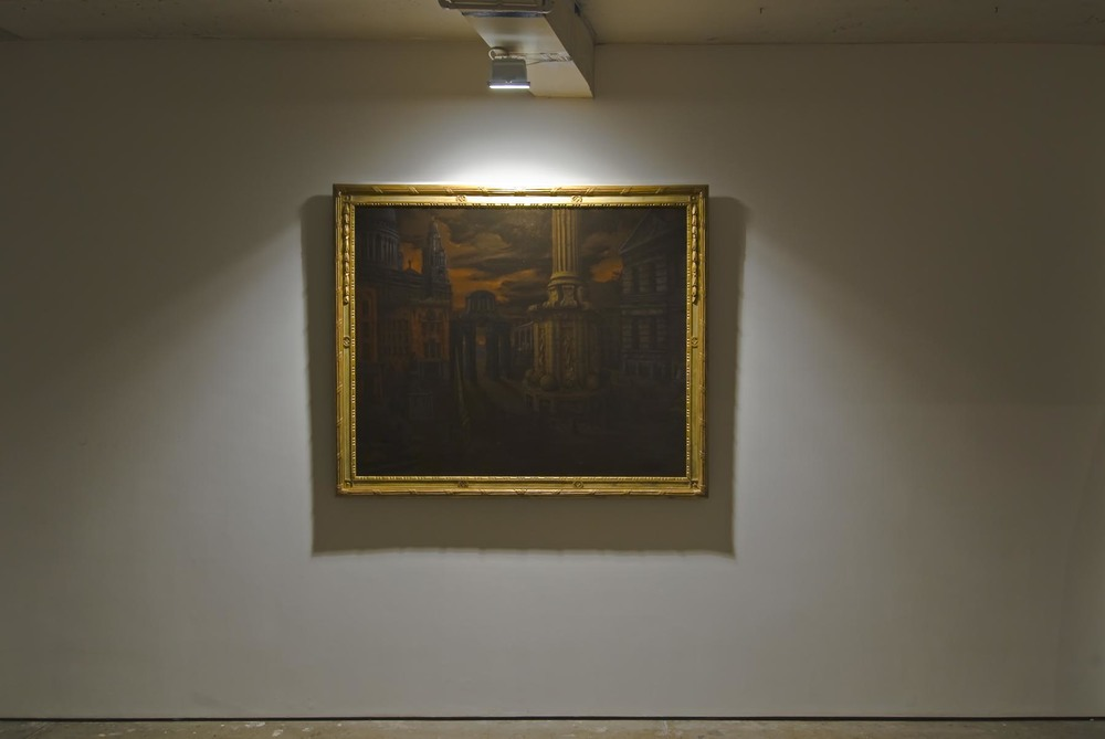 Paternoster Square Cappriccio 2008 oil on linen in artist's frame 154 x 185 cm