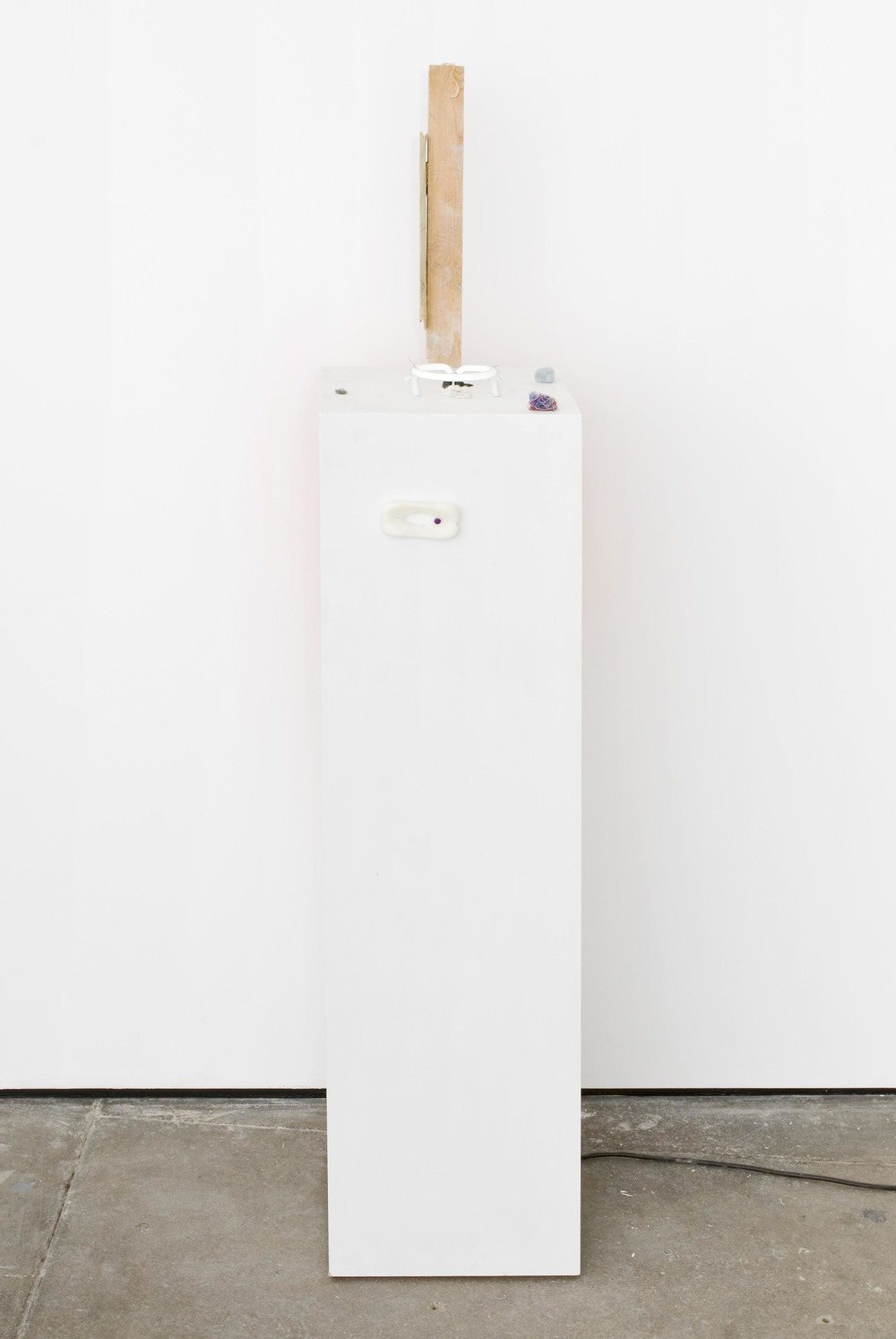 Rebecca Warren All that Heaven Allows 2007 MDF Plinth with Mixed Media 160 x 30 x 30 cm