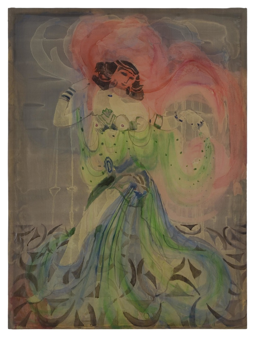 Shannon Bool Salome 2007 Oil and Batik on Silk 65 x 87 cm