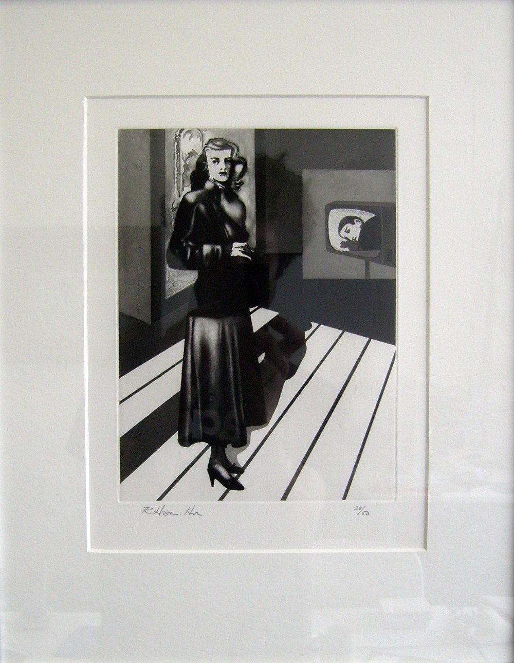 Richard Hamilton Patricia Knight III 1982 Soft, Lift Ground and Step Bite Aquatint Paper 38 x 28 cm/ Image 23.7 x 17.6 cm