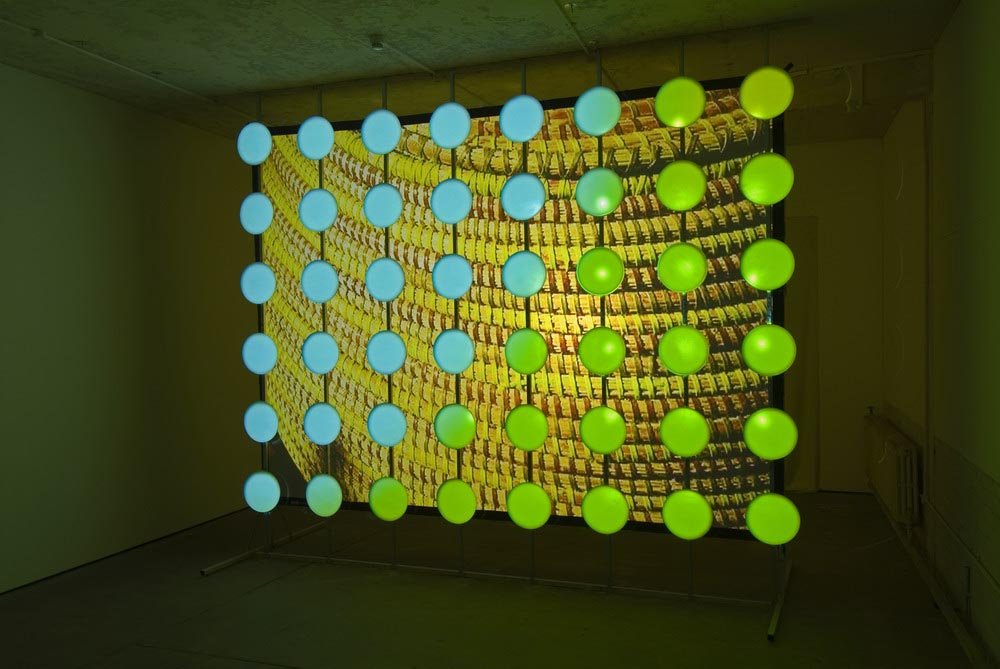 Round Writing (Installation View) 2007 Double Video Projection Dimensions Variable
