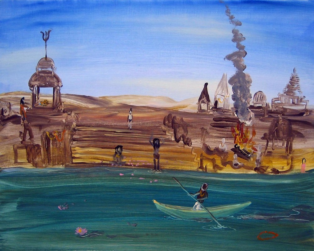 Benares   2005   acrylic on canvas   40 x 50 cm