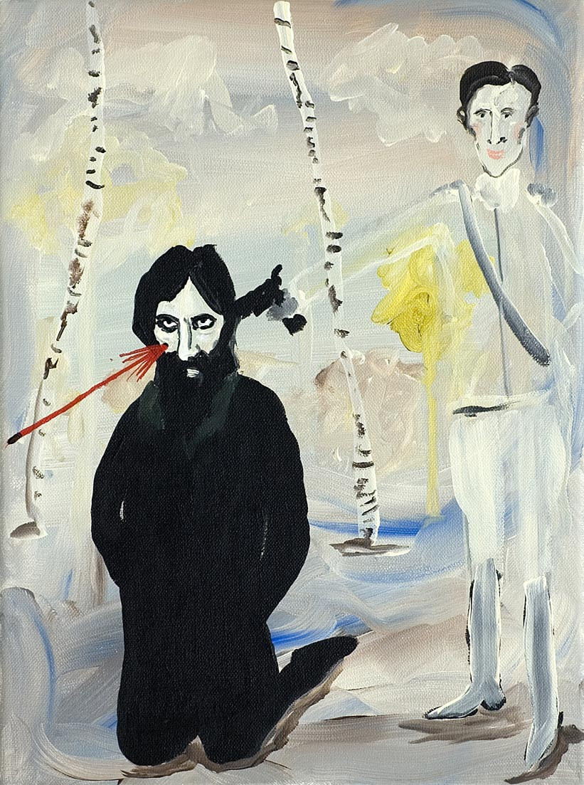 Felix Shooting Grigory   2006   acrylic on canvas   40.5 x 30.5 cm