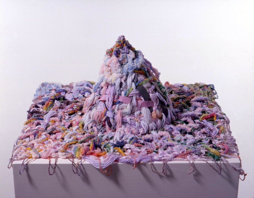 Zuckerberg 2005 wool & fabric 23x60x59cm