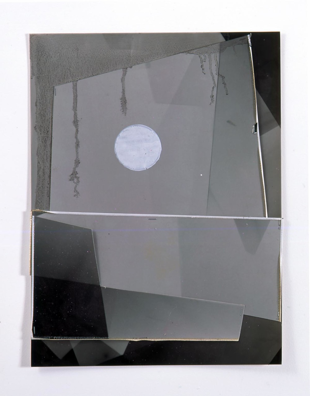 Untitled 2005 paint marker, tape, staples, oil paint, spray paint on collaged photograms 40.5x30.5cm