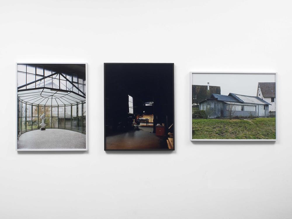 Atelier Balmer, Basel 1893; Atelier Hofmann, Beuren 1892; Atelier Böcklin, Zürich 1885 2009 C-print 3 parts, each part: 79 x 63 cm / 31 x 24.7 in framed