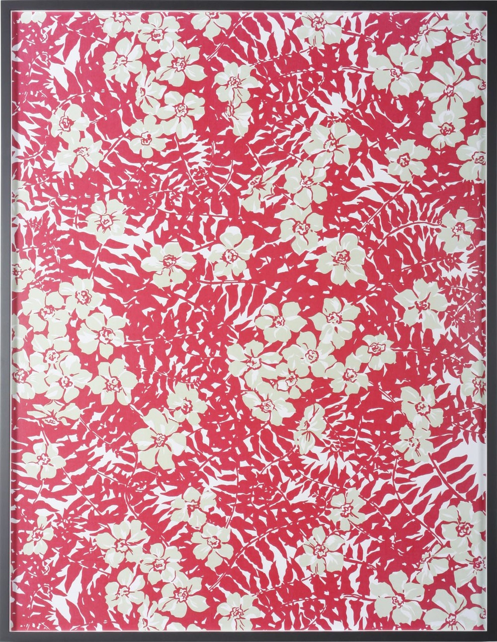 "Big Print #2 (Maui Fern - Cotton ""mainsail cloth"" fall 1949 design Dorothy Draper, courtesy Schumacher &Co) 2007 C-Print: 131.5 x 100.5 cm / 51.8 x 39.6 in"