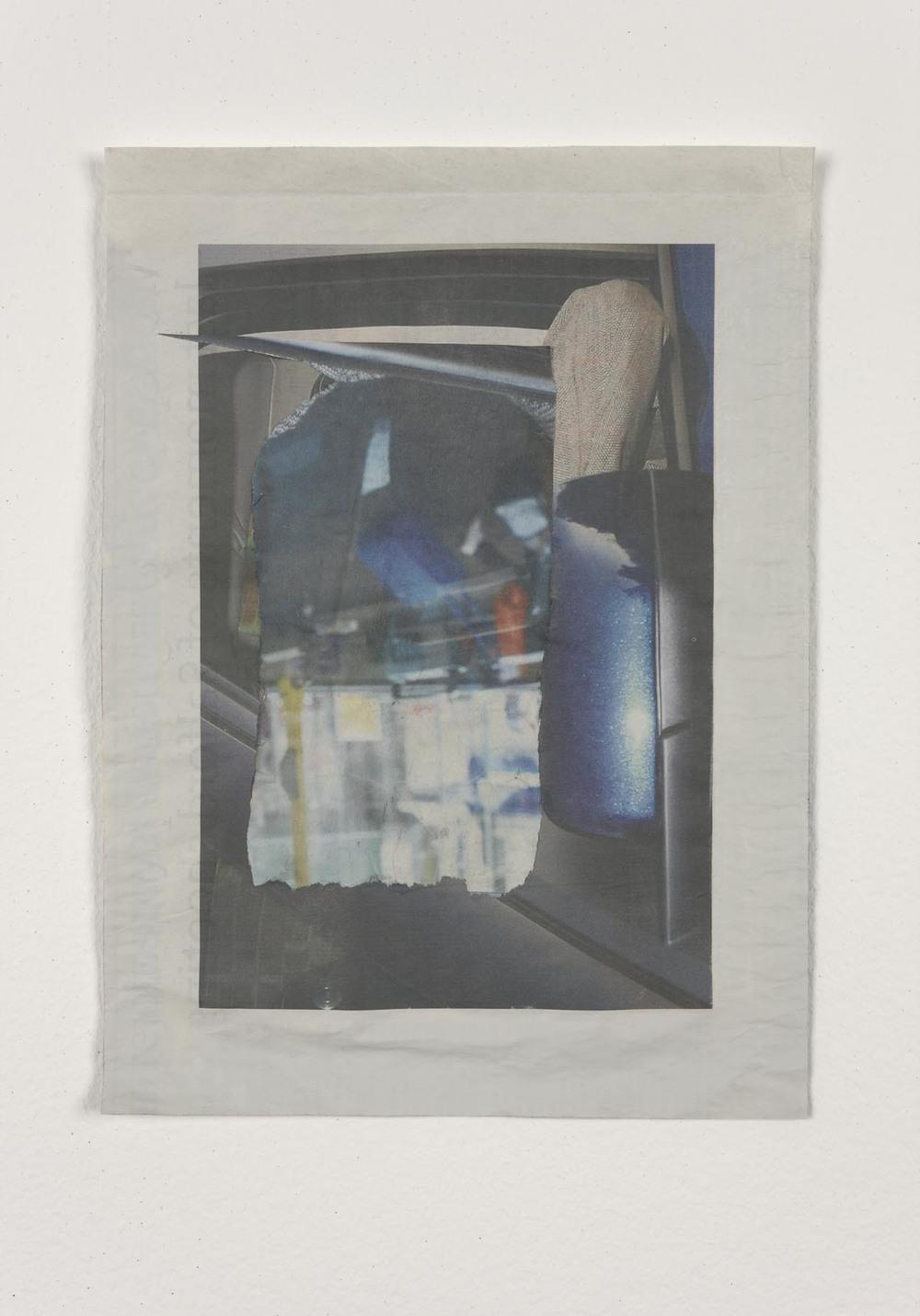 Untitled   2012   Acrylic on newsprint   28.5 x 21 cm / 11.2 x 8.2 in