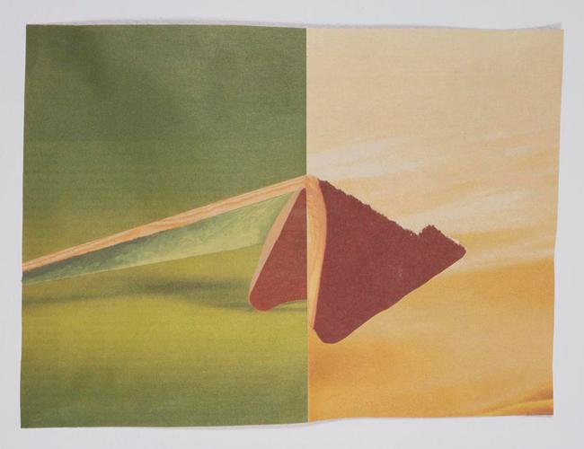 Untitled   2007   acrylic on newsprint   38.5 x 28 cm / 15.2 x 11 in