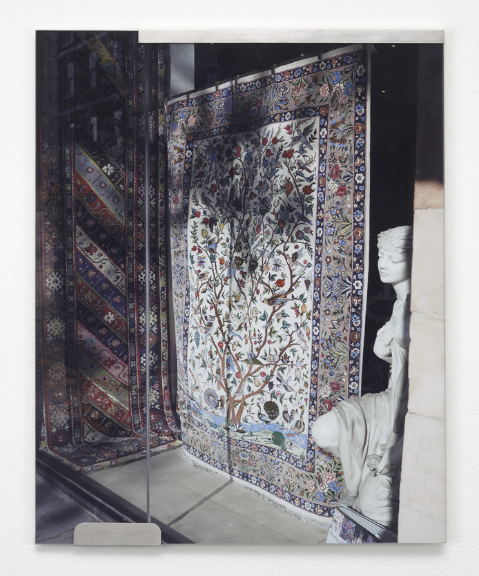Carpets and Glass #2  2012  C-print, stainless steel clips, clip frame  50 x 40 cm / 19.6 x 15.7 in