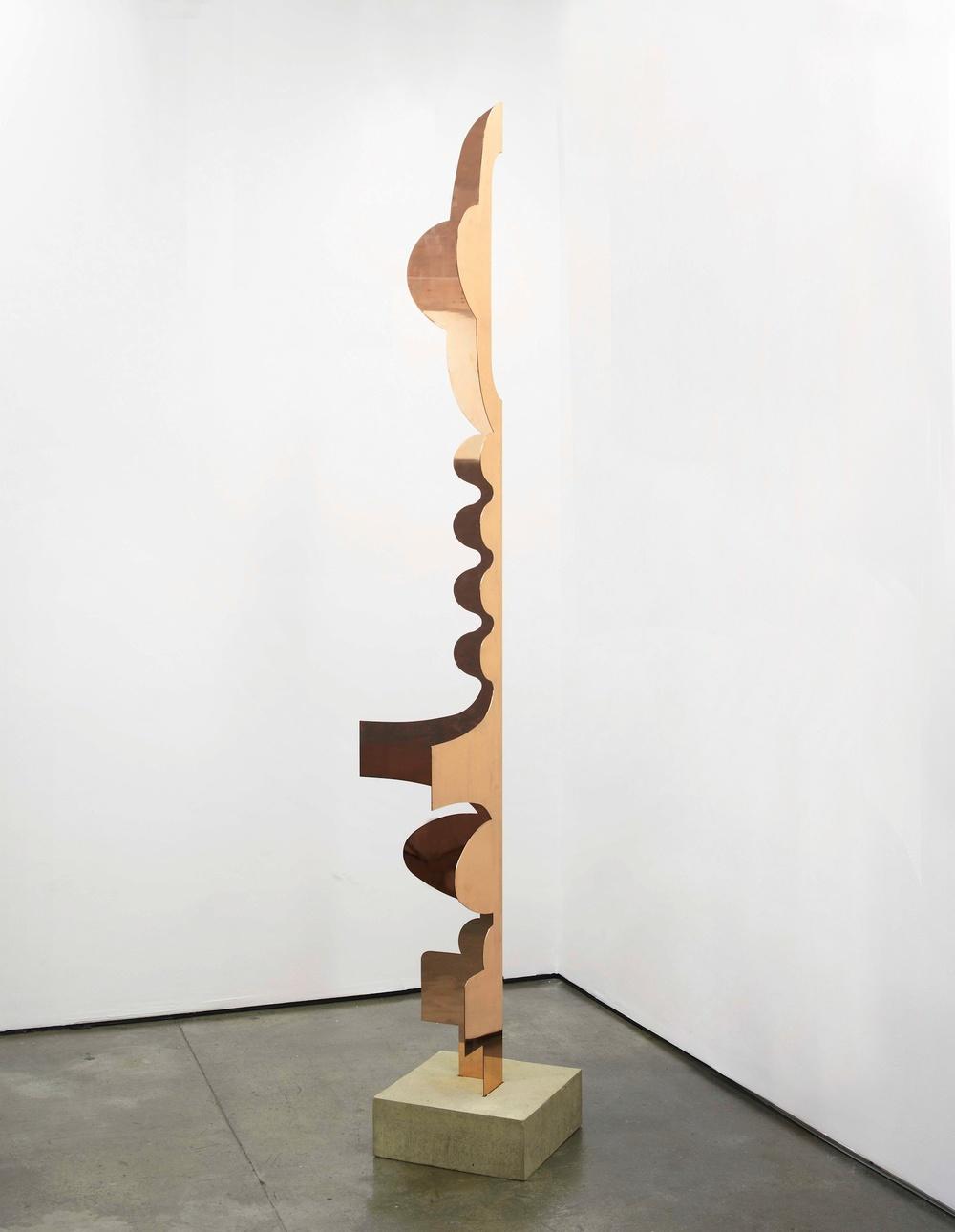 Centrefold 2011 Copper, concrete base 246 x 54 x 54 cm / 96.9 x 21.3 x 21.3 in