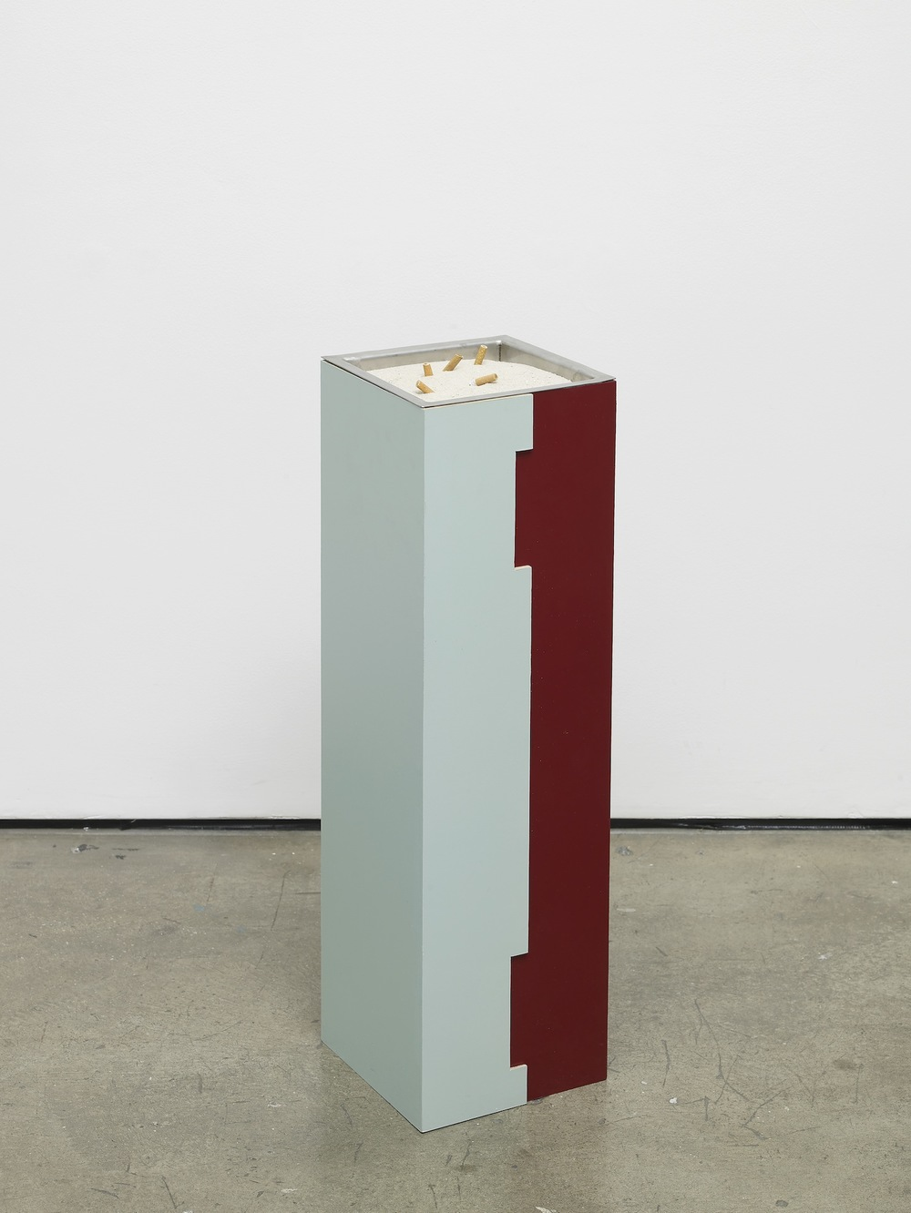 French Junkies #11 2002 Lacquered wood, stainless steel, sand 80 x 23.8 x 22.9 cm / 31.5 x 9.4 x 9 in