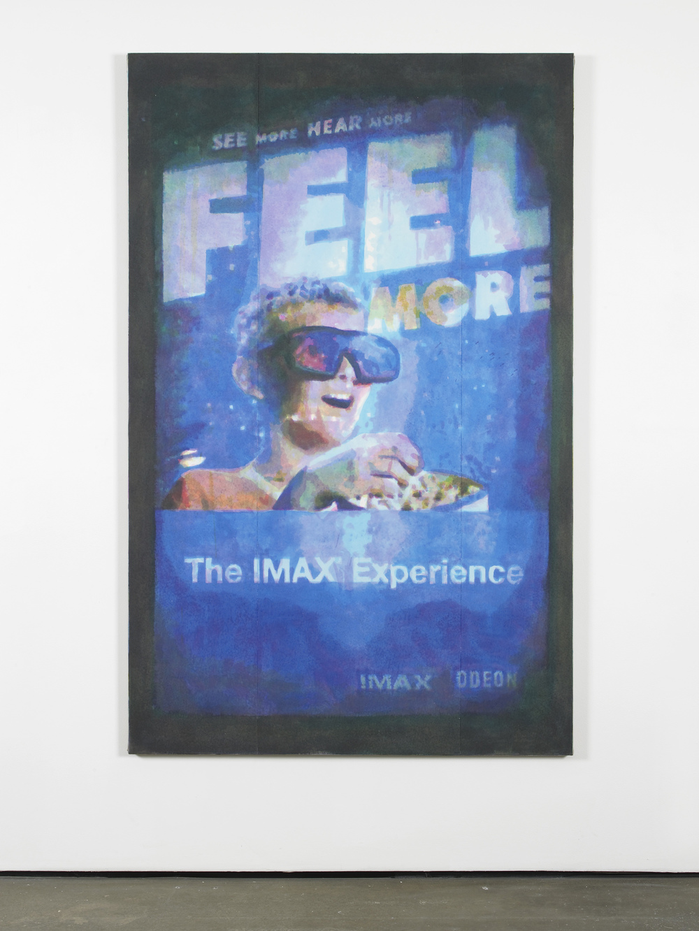 Feel More (2000's)  2014  Hand-painted inkjet inks on fibre paper and linen  190 x 120 cm / 74.8 x 47.2 in