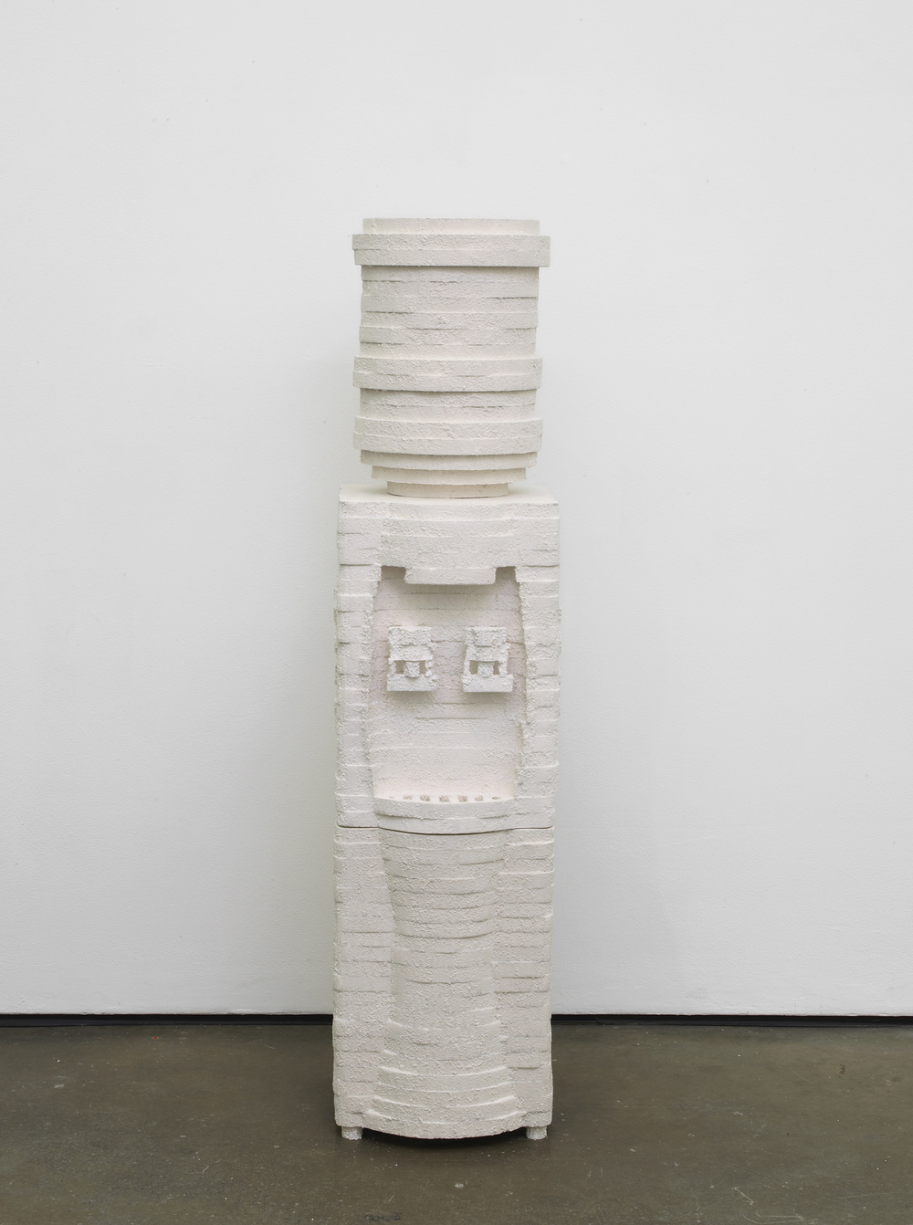 Water Cooler  2014  Plaster  145 x 34 x 37 cm / 57 x 13.3 x 14.5 in