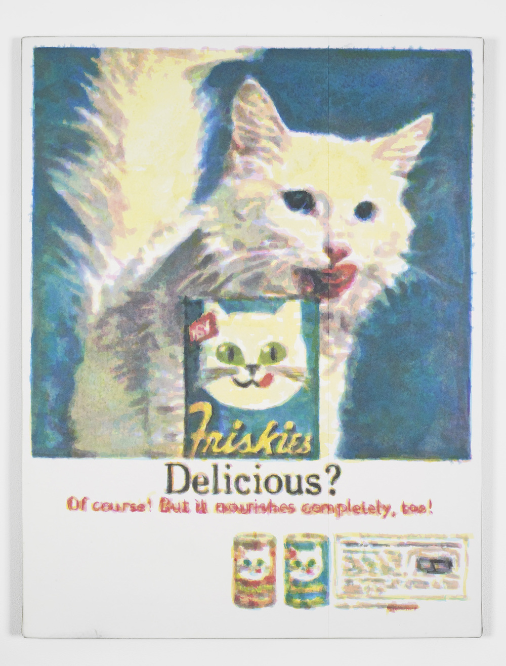 Delicious (1970's)  2014  Hand-painted inkjet inks on fibre paper and linen  110 x 80 cm / 43.3 x 31.4 in