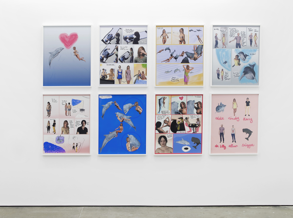 Antoine Catala and Dan Graham A Dolphin's Smile (and More) 2013 8 digital prints Each: 76.2 x 53.3 cm / 31 x 21 in