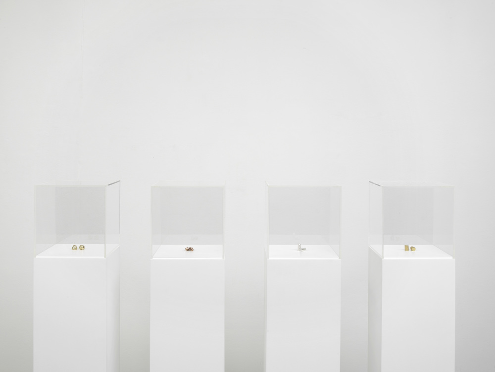 Amalia Pica Palliative for Chronic Listeners  2012 Bronze, silver, copper, gold Dimensions variable