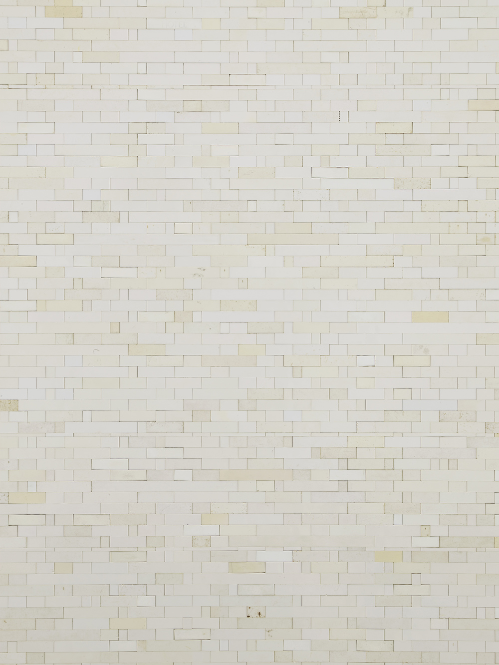 Michael Wilkinson White Wall 5 (Detail) 2013 White Lego column 185 x 33 x 50 cm / 72.8 x 11.8 x 19.6 in