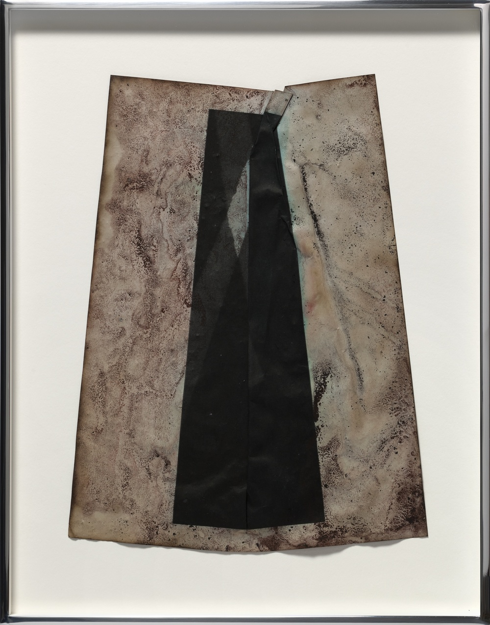 Untitled 2013 Inks and mixed media on dyed inkjet print 38.1 x 29.2 cm / 15 x 11.5 in framed