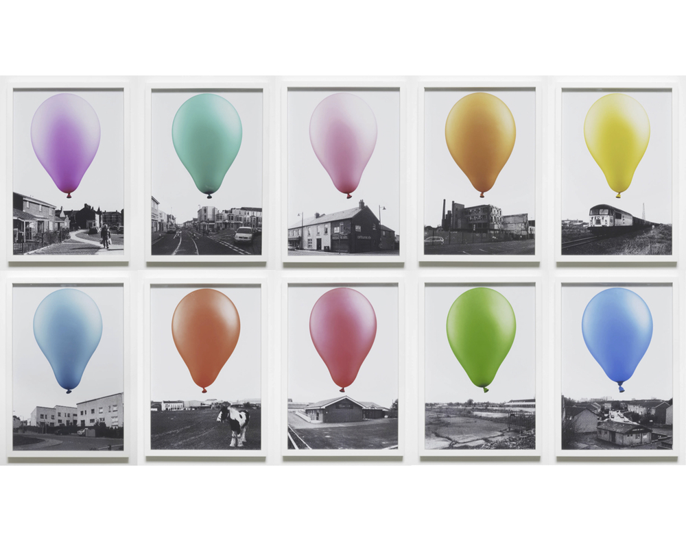 A Balloon for Britain  2012  Digital print  10 parts, each: 45 x 30 cm / 17.7 x 11.8 in