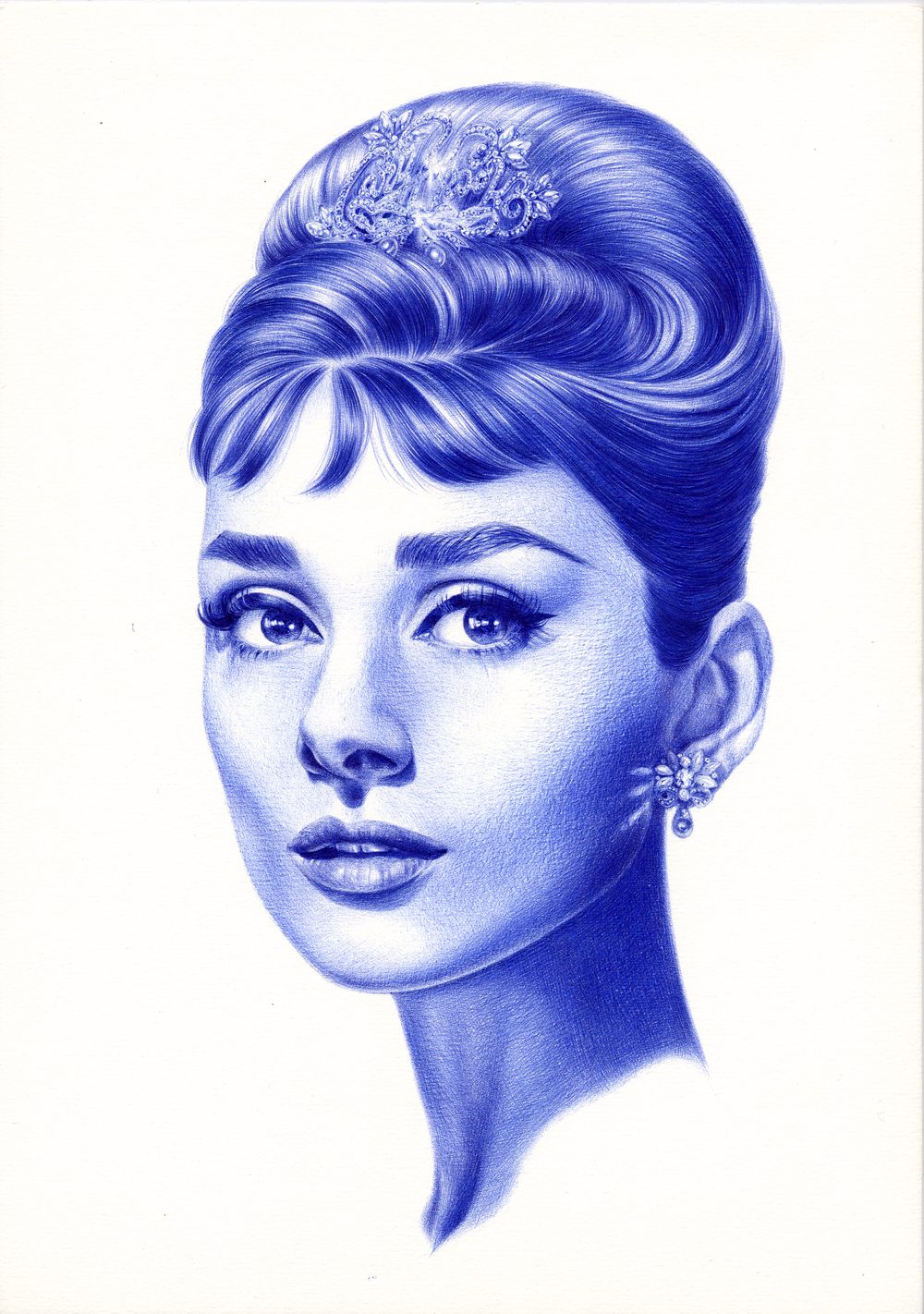 Hollywood - Audrey Hepburn (1960s) 2008 Ink on paper 29.7 x 21 cm / 11.7 x 8.3 in