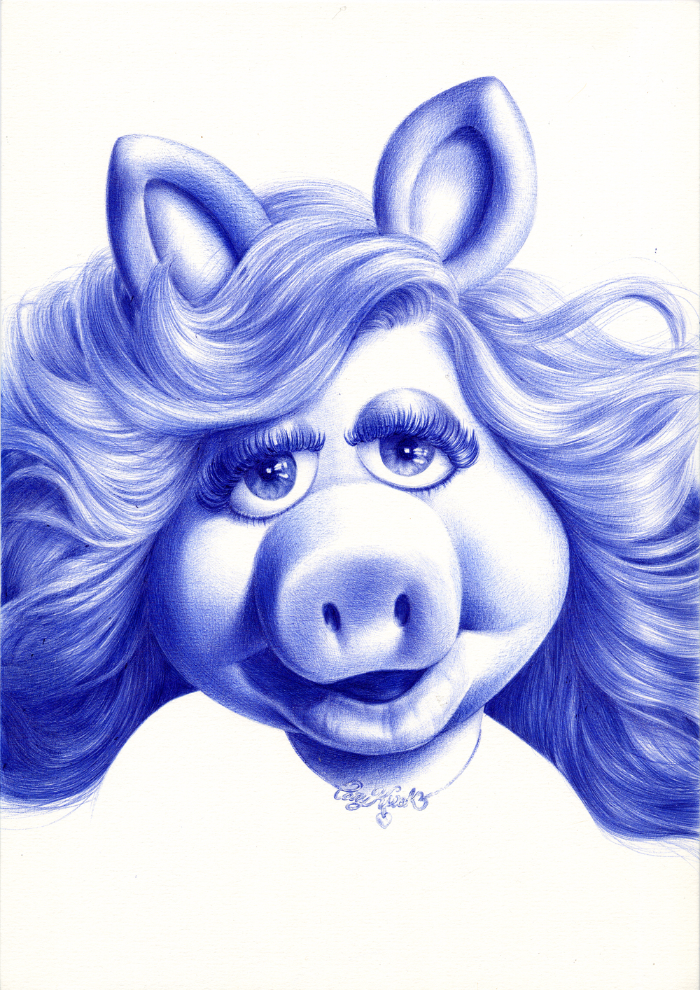 Hollywood - Miss Piggy (1970s) 2008 Ink on paper 29.7 x 21 cm / 11.7 x 8.3 in