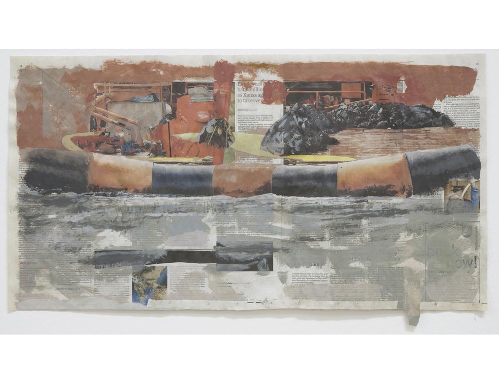 Untitled 2009 Acrylic on newsprint 39 x 72 cm / 15.4 x 28.3 in