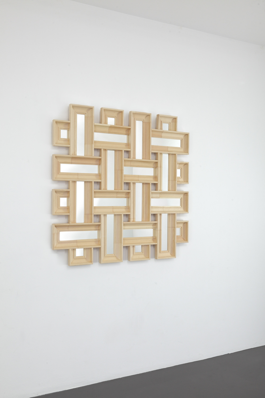 Robert & Trix Haussmann Lehrstück 1987/2014 Wood and acrylic mirror 133 x 133 x 6cm/ 52.4 x 52.4 x 2.4in Ed. 1/8 + 2 AP