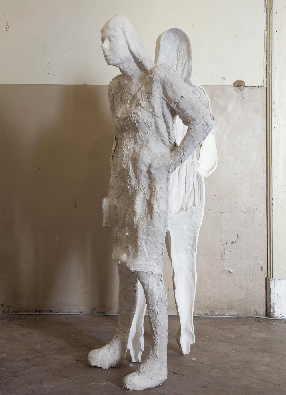 Unfolded Woman 2013  Plaster Cast