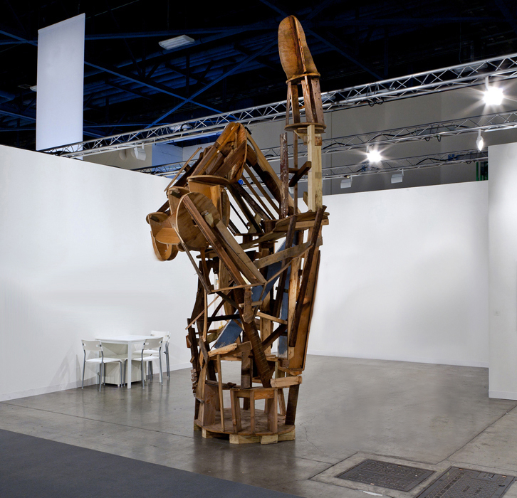 Untitled (Unfinished Hand)  2012  Reclaimed wood, hardware  475 x 203 x 162.5 cm / 187 x 80 x 64 in