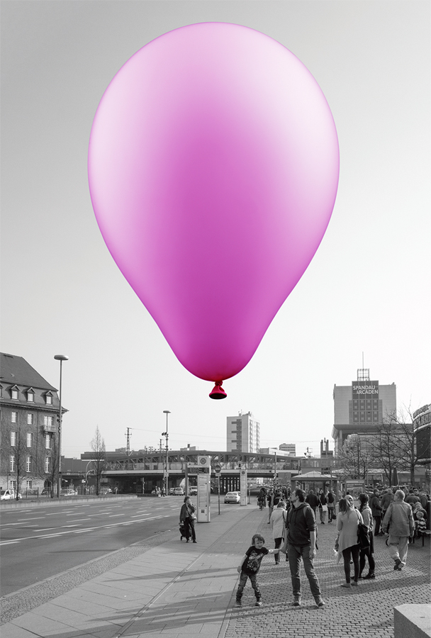 A Balloon for Spandau 2014 Inkjet print on paper 113.1 x 76.3 cm / 44.5 x 30 in